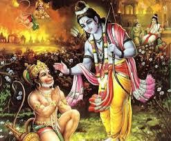 hanuman brings chudamani