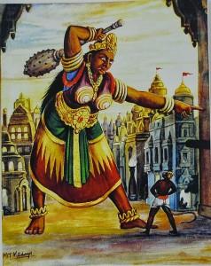 hanuman meets lankini